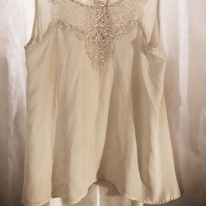 Embroidered Lace Vintage Style Blouse